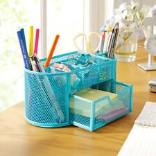 Pencil Pen Holder Storage Desk Desktop Organizer Tray Box Drawer Office Supplies