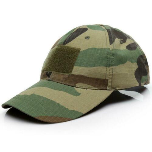 Mens Tactical Army Camo Baseball Skip Cap Plain /& Camouflage Military Hat-875
