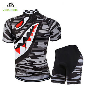 Men's Team Cycling Jersey Shorts Set Kits Bike Shirt Padded Tights Outfits Suits