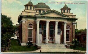 1910s-San-Antonio-Texas-Postcard-034-Central-Christian-Church-034-Building-Front-View