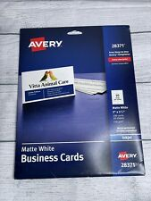 Avery Ink Jet Printer White Business Cards 28371