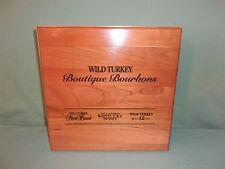 Wild Turkey Boutique Bourbons Salesman Sample Tasting Kit In Wood Case  ORIGINAL