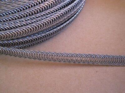Eloja® Set 3 m Spiralfedern und 30 Endkappen Korsettstäbe Korsett Stäbe 7 mm