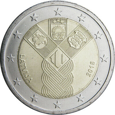 "Lithuania 2 euro coin 2018 dedicated to /""Baltic States/"" BU"
