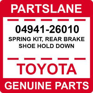 0494126010 Genuine Toyota SPRING KIT REAR BRAKE SHOE HOLD DOWN 04941-26010