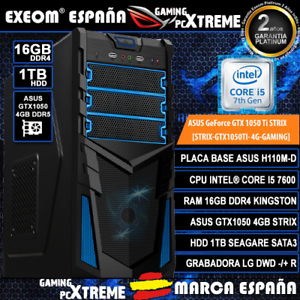 Ordenador-Gaming-Pc-Intel-I5-7600-16GB-DDR4-1TB-Asus-GTX1050-4GB-DDR5-Strix