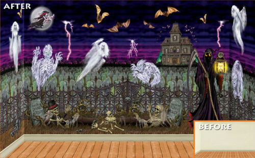 6 HALLOWEEN Party Prop Wall Decoration ETHEREAL GHOSTS Ghost Add On Props