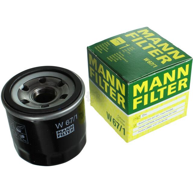 ORIGINALE MANN-FILTER FILTRO OLIO FILTRO W 67/1 OIL FILTER