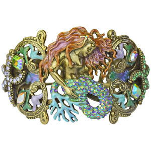 Kirks-Folly-Lorelie-Sea-Goddess-Cuff-Bracelet-Brasstone-with-Free-Shipping
