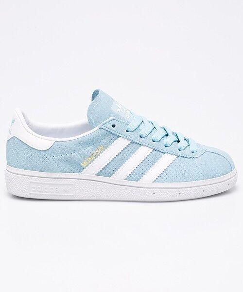 ADIDAS ORIGINALS MUNCHEN * ICE BLUE WHITE * BY9793 * UK 11.5