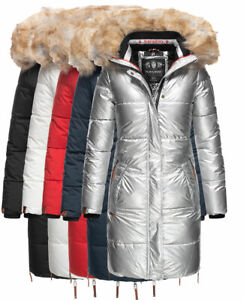 Navahoo-Damen-Winter-Jacke-Parka-FVS3-Steppjacke-mantel-Lange-Outdoor-HALINA