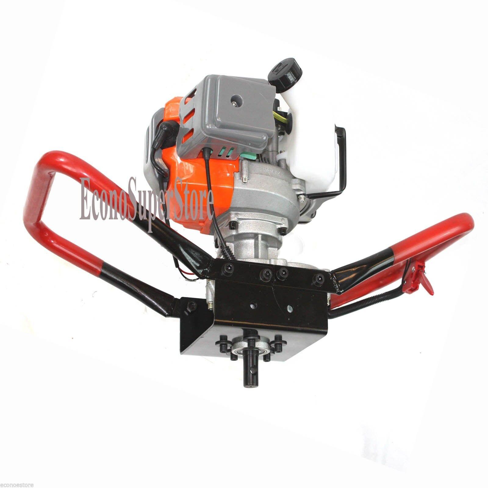 52 C Post Motor de alimentación de gas Hole Digger sola persona Barrena esgrima de perforación del agujero