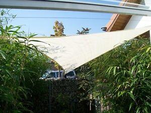 yaccu sonnensegel sonnenschutz 7x7x7 m dreieck creme garten balkon terrasse neu ebay. Black Bedroom Furniture Sets. Home Design Ideas