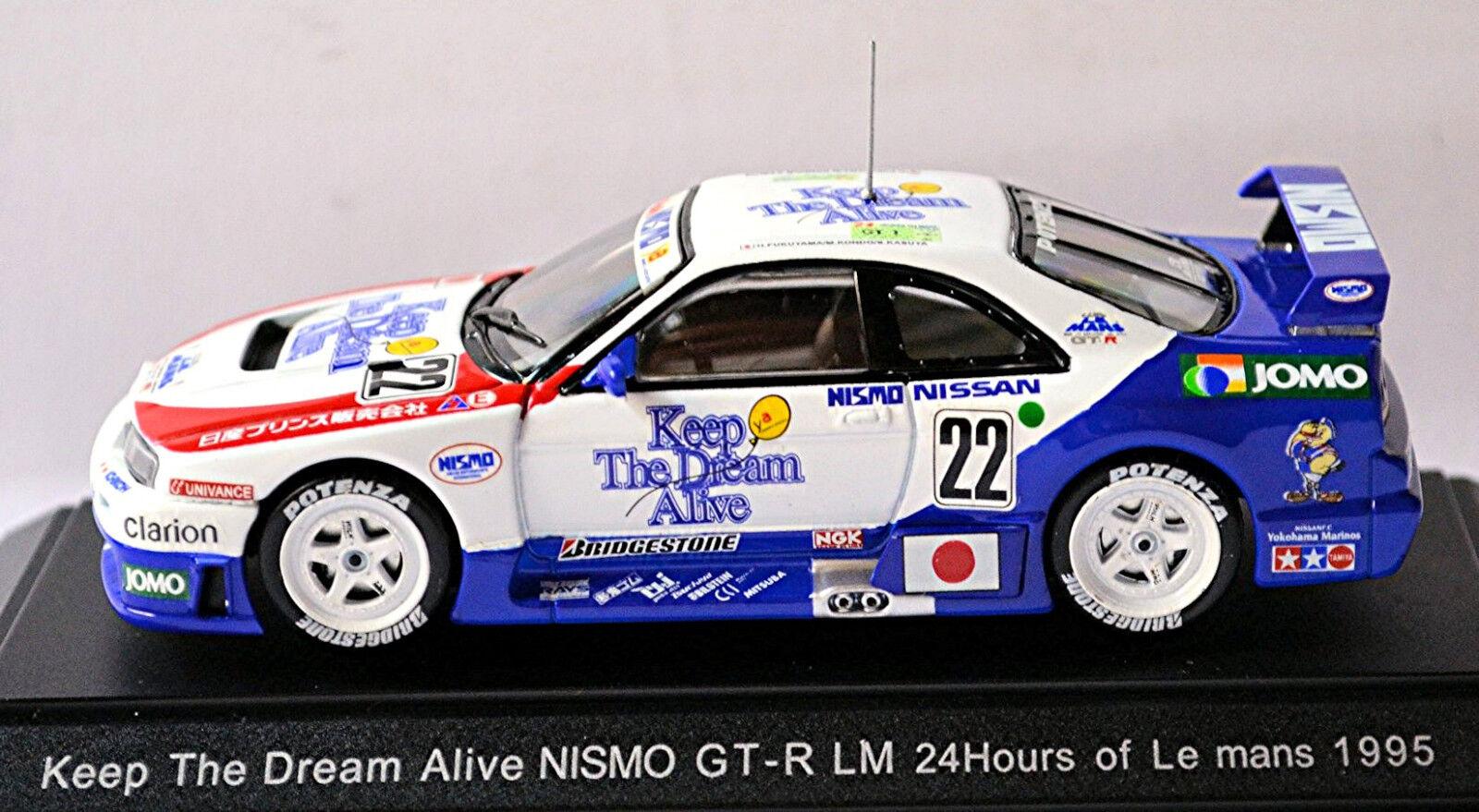 Nismo GT-R LeMans 1995 Keep The Dreams Alive  22 Bleu Blanc 1 43 Ebbro