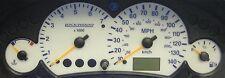 Ford Focus Mk1 (temprano) gasolina diales blanco con iluminación nocturna tiempo azul