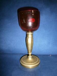 ANCIENNE VEILLEUSE D'EGLISE D'AUTEL-lampe de sanctuaire-A POSER-XIXème-CUIVRE Tbj6gVuw-07215116-315300437