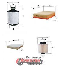Set L: Innenraumfilter+Ölfilter+Luftfilter+Kraftstofffilter Inspektionsset OPEL