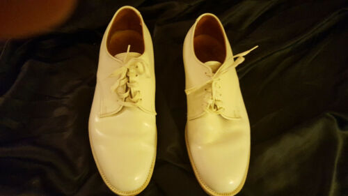 ALDEN Size 7 D/EE White Leather Lace Up Shoes Buck