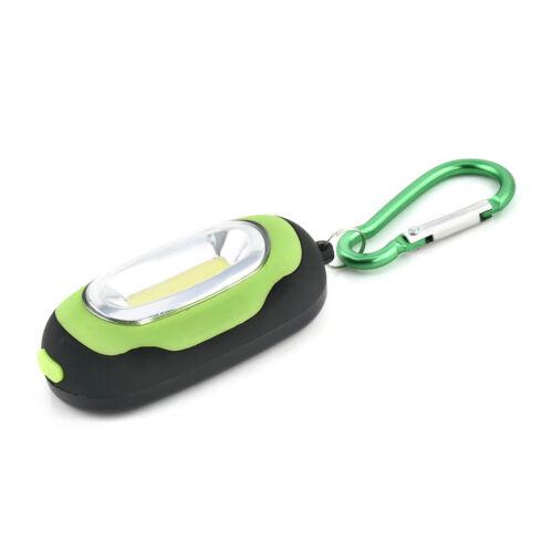 Super Bright LED COB Mini Light Flashlight Torch Keyring Keychain Camping Lamp