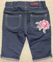 Guess Jeans Jean jean Shorts Girl's 18 24 M Stretch Rose Applique Free