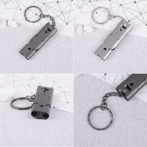 150db-double-pipe-stainless-steel-outdoor-emergency-survival-whistle-keychain-JR