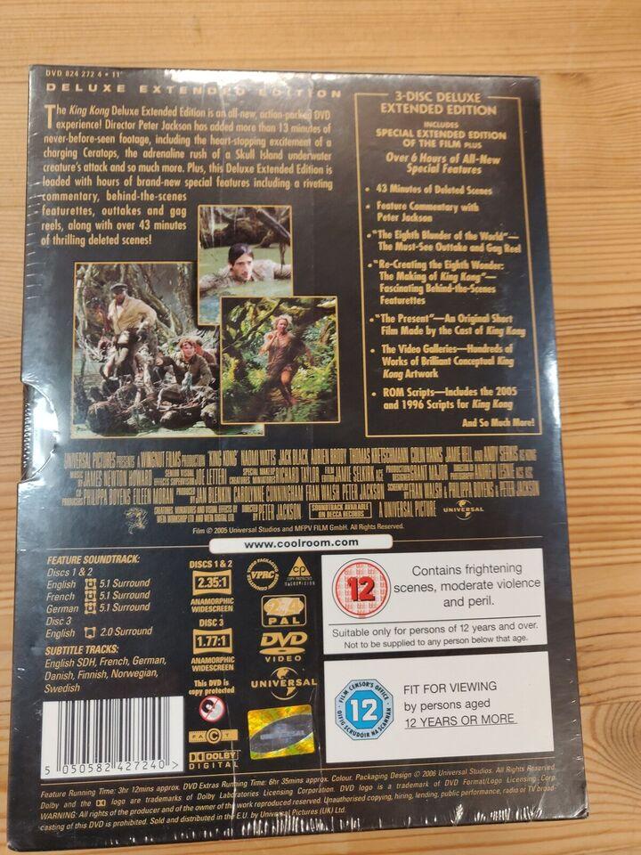 King Kong, instruktør Peter jackson, DVD