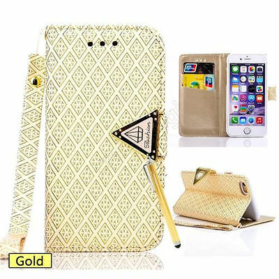 Bling Diamond New Flip Wallet Leather Case Cover Stand For iPhone 6 6 Plus 5S 4S