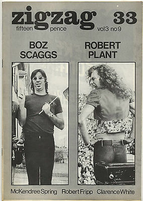 ZIGZAG No 33 July 1973 Led Zeppelin Pink Floyd Robert Fripp King Crimson