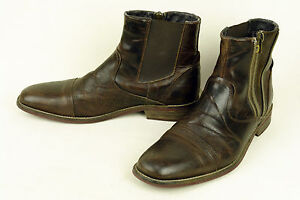 STEVE MADDEN * PORTUGAL * FABULOUS BOOT IN A DARK BROWN DISTRESSED * 9 * XCLNT