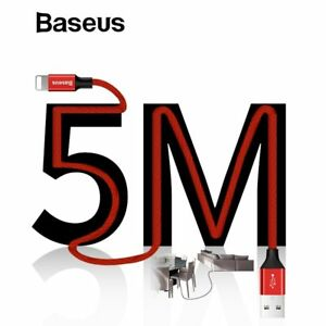 Baseus-5M-Braided-Lightning-USB-Fast-Charging-Cord-Data-Cable-for-iPhone-X-8-7-6