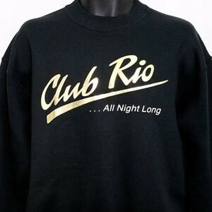 Club-Rio-Sweatshirt-Vintage-90s-Las-Vegas-Nightclub-Made-In-USA-Gold-Size-Medium
