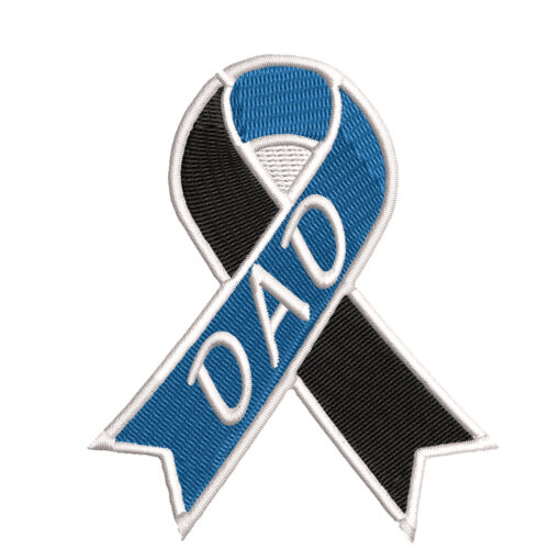 """Loss of a Dad Awareness Ribbon 3.5/"""" Iron//Sew On Decorative Patch"""