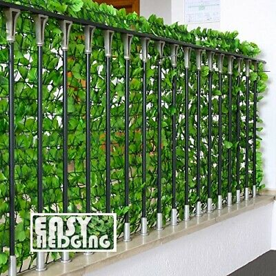 Artificial Ivy Leaf Hedge Privacy Fence