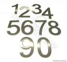 Stainless Steel House Numbers - No 4 - Stick on Self Adhesive 3M Backing 10cm