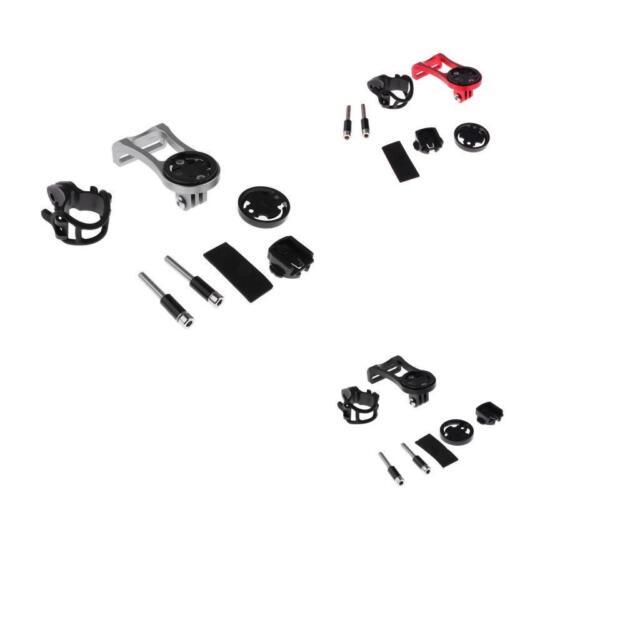 1 Set Aluminium Bike Computer Mount Stem Extension for Garmin Edge Black