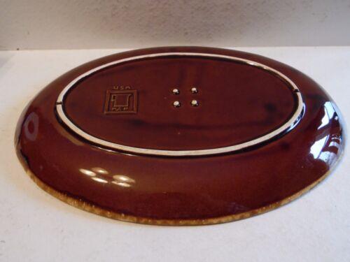 Vintage McCoy Brown Glaze Pottery Meat Drip Tray