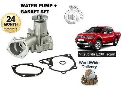 FOR MITSUBISHI L200 TROJAN 2.5 DID 2006--/> WATER PUMP KIT WITH GASKET