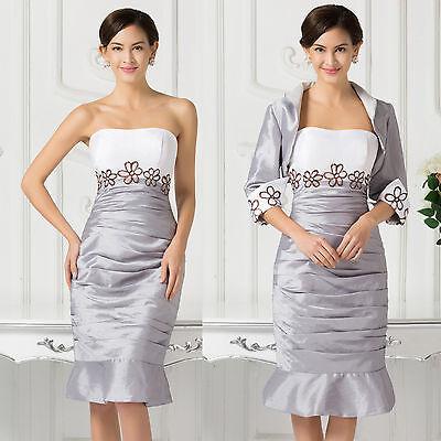2016 Vintage Lace Mother of the Bride CocktailFormal Dresses Short Evening Gown