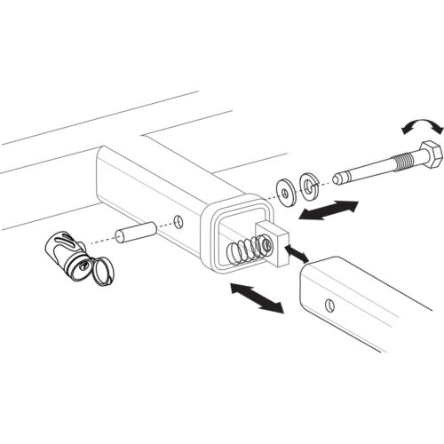 """Let/'s Go Aero SHP2040XL 5//8/"""" Silent Hitch Pin Press-On Locking for 2.5/"""" Hitches"""