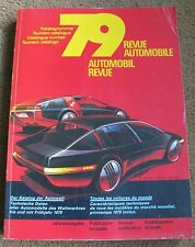 1979 AUTOMOBILE  REVUE  FERRARI LOTUS JAGUAR RACING F1 Morgan Ford Rs