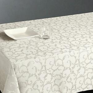 Mantel-antimanchas-rectangular-Jacquard-140-x-240-cm-Marfil-decoracion-de-mesa