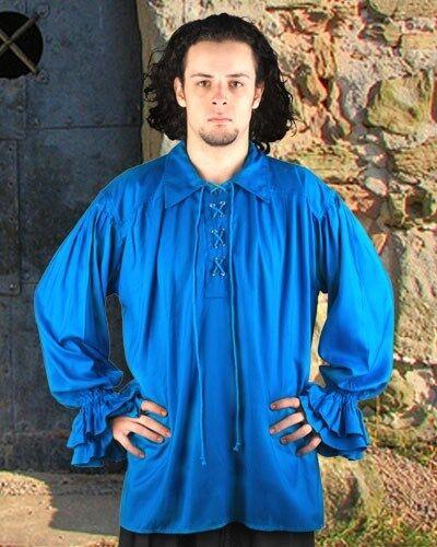 Medieval Shirt Renaissance Pirate S/M - XXXL Men 8 Colors Rayon NEW  (MC1007)