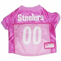 Pittsburgh Steelers Pink Football Pet Dog Jersey Gear Licensed Nfl All Sizes
