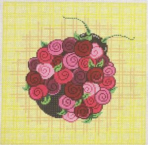 Patti-Mann-Pink-Bug-with-Flower-Back-Handpainted-Needlepoint-Canvas