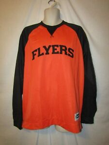 mens-philadelphia-flyers-long-sleeve-pullover-XXL-nwt-reebok-face-off-apparel