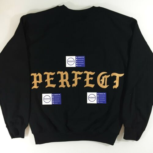 NYC POP UP LIFE OF PABLO KANYE TLOP PERFECT BLACK CREWNECK SWEATER S M L XL