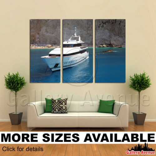 3 Panel Canvas Picture Print Luxury Yacht 3.2