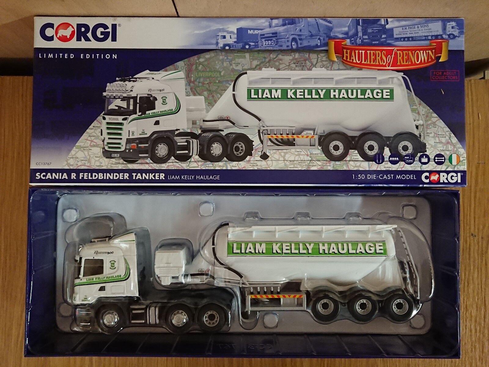 Corgi CC13767 Scania R Feldbinder Tanker Liam Kelly Haulage Ltd Ed. 618 of 800