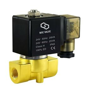 """Brass Direct Acting Electric Solenoid Valve Normally Closed 1//4/"""" Inch 110V AC"""