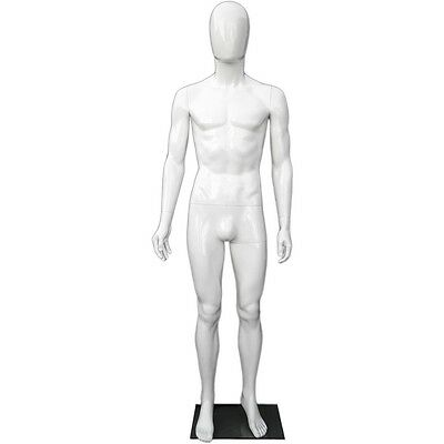 MN-439 Glossy White Plastic Egghead Male Full Size Mannequin with Removable  Head | eBay